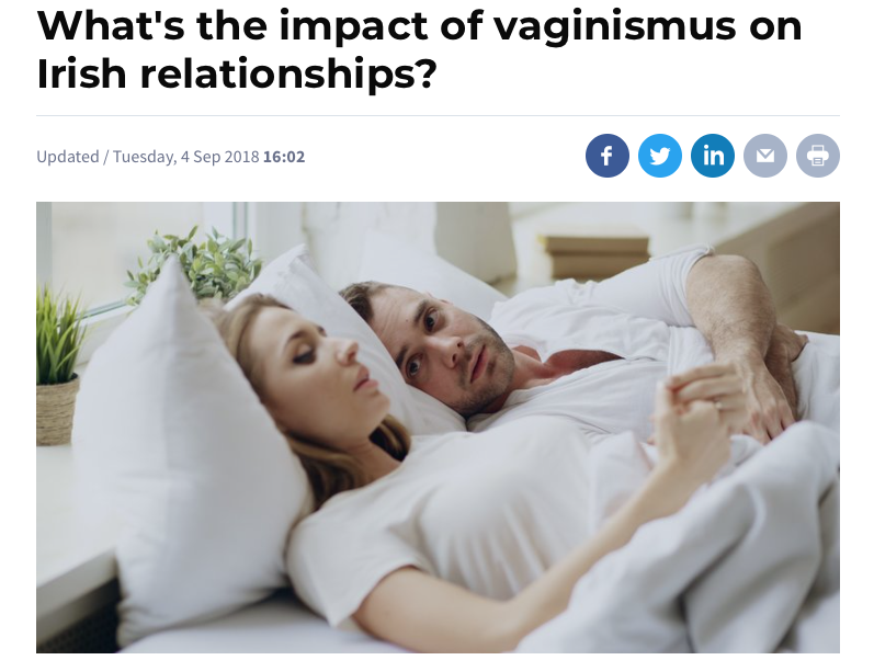 RTE Brainstorm Article – What's the impact of vaginismus on Irish relationships?